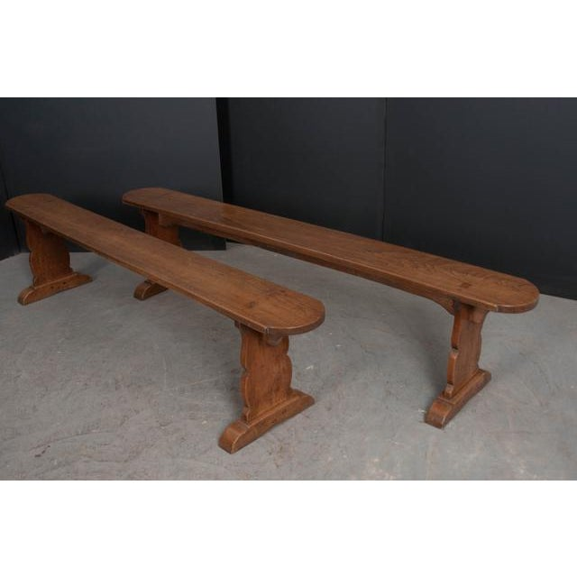This pair of oak benches, c. 1870's, is from the French countryside and would look great around a farmhouse table! Having...