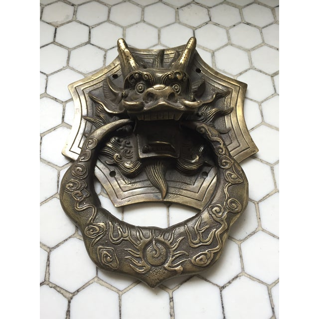 Asian Dragon Brass Door Knocker - Image 5 of 9