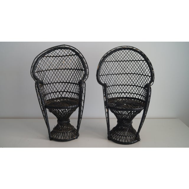 1970's Vintage Mini Bamboo Chair Models - A Pair For Sale In Miami - Image 6 of 6
