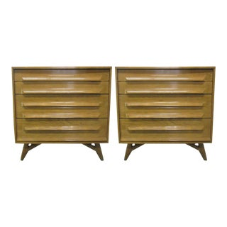Pair of Cerused Oak Chests For Sale