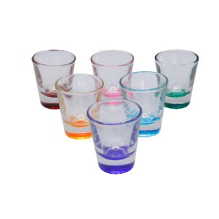 Mid-Century Multi Colored Shot Glasses, 1970s - Set of 6 For Sale