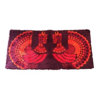 Rya Rug Shag Ege Mid Century Modern Pop Art For Sale