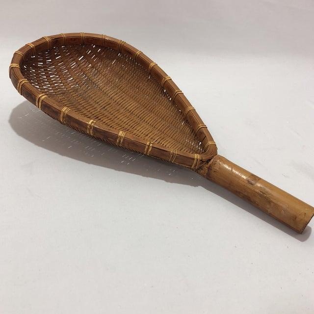 Antique Decorative Racket Shaped Basket For Sale - Image 5 of 7