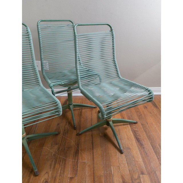 1950s Vintage Ames Aire Cabana Star Line Green Patio Chairs- Set of 4 For Sale - Image 10 of 11