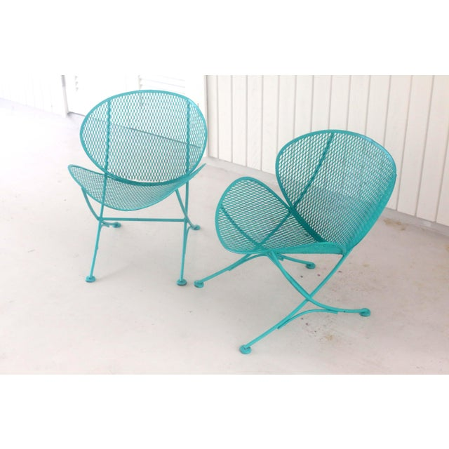 1960s Salterini Turquoise Clam Chairs - a Pair For Sale In Tampa - Image 6 of 13