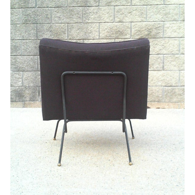 Baughman-Style Mid-Century Iron Frame Slipper Chair - Image 3 of 7
