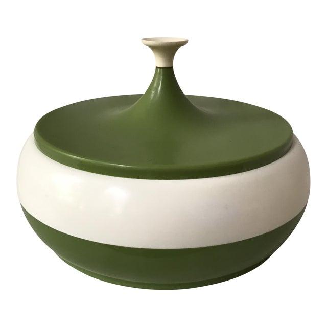 Vintage Green Lidded Canister - Image 1 of 5