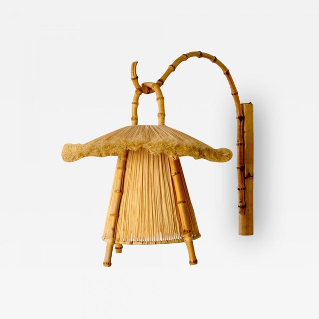 Bamboo Bamboo and Straw Hanging Lantern For Sale - Image 7 of 7