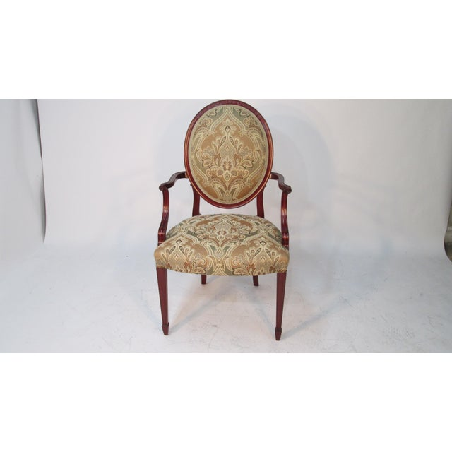 English 1940s Vintage Joseph Gerte of Boston Mahogany Arm Chairs - a Pair For Sale - Image 3 of 12