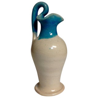 Mid-Century North State Pottery Turquoise Vessel For Sale