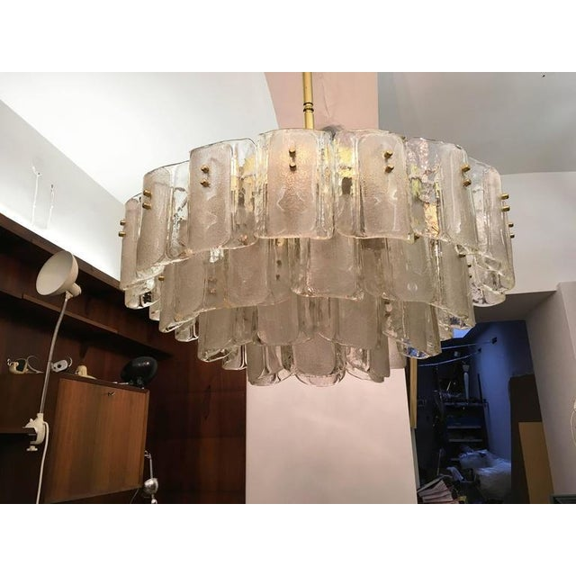 Large Crystal Glass Chandelier, 1960s For Sale - Image 4 of 11