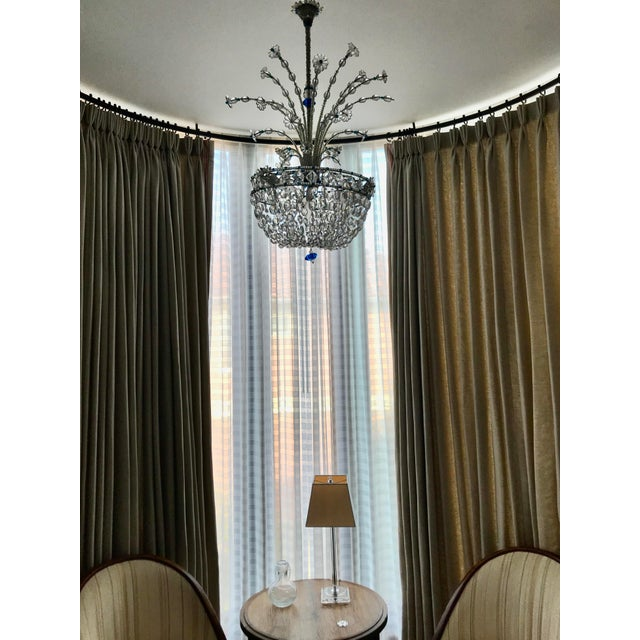 Art Deco 1940s Mid Century French Crystal Chandelier For Sale - Image 3 of 13