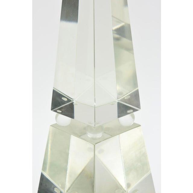 Murano, Venini & Co. Fine Pair of Monumental Murano Glass Obelisks by Alberto Dona For Sale - Image 4 of 9