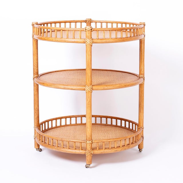 Midcentury British Colonial Style Stands or Carts - A Pair For Sale - Image 9 of 10