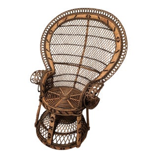 Vintage Emmanuel Rattan Peacock Chair For Sale