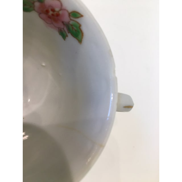 White Japanese Tea Cup and Saucers - 5 Piece Set For Sale - Image 8 of 9