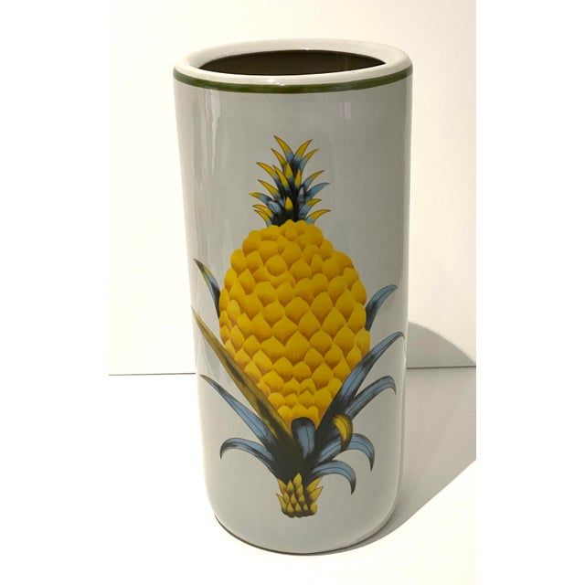 Vintage Fornasetti Style Umbrella Stand With Double Pineapple Motif For Sale - Image 12 of 12