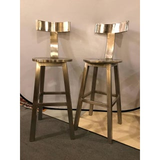 A Pair of Deco Style Steel Bar Stool Preview
