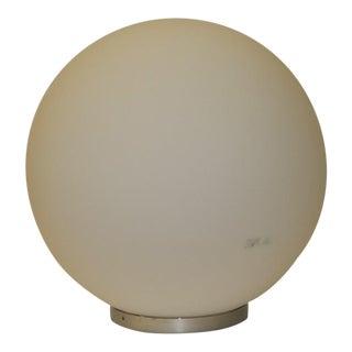 ITRE White Globe Mid-Century Modern Murano Glass Table Lamp For Sale