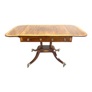 English Regency Sofa Table For Sale