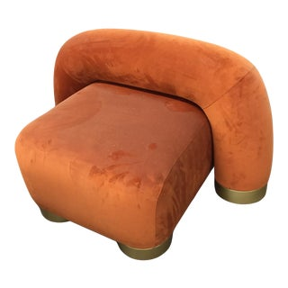 Modern Twist Lounge Chair For Sale