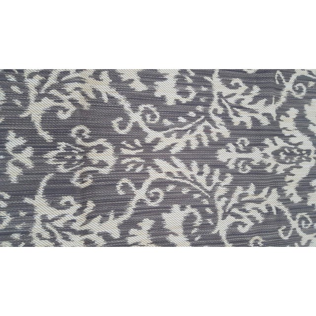 Woven Ikat Reversible Fabric Remnant For Sale In Chicago - Image 6 of 6