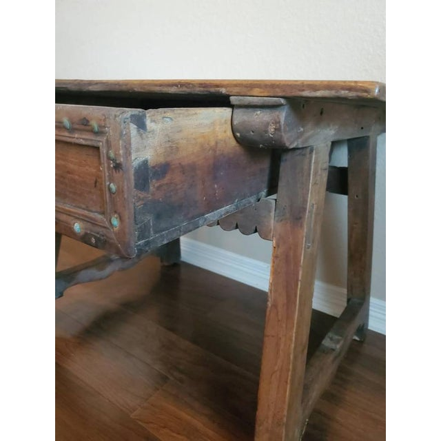 18th Century Rustic Spanish Colonial Low Table For Sale - Image 9 of 11