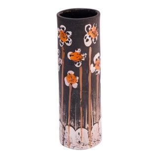 Alvino Bagni for Raymor Floral Ceramic Vase For Sale