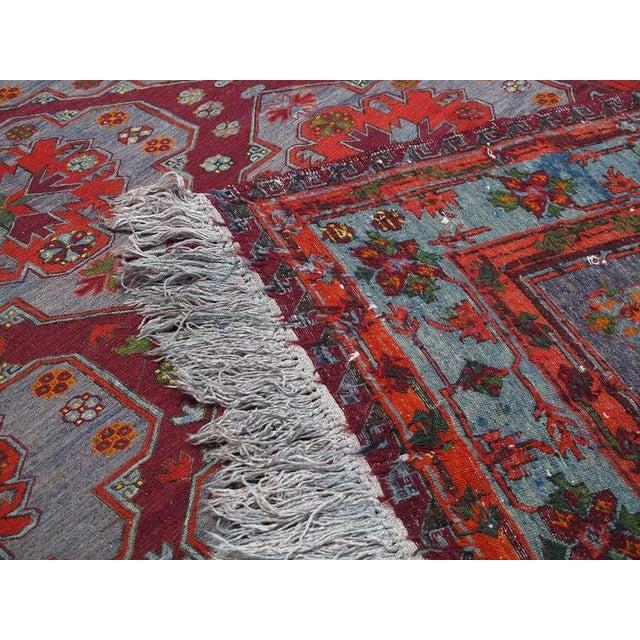 Textile Caucasian Sumak Carpet For Sale - Image 7 of 10