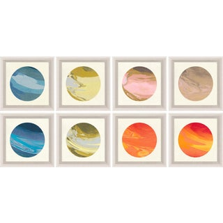 Planetary Series, Small, Framed Artwork - Set Of 8 For Sale