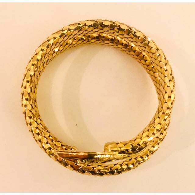 Victorian Revival Gold Mesh Serpent Bracelet For Sale In New York - Image 6 of 8
