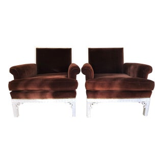 Mid Century Upholstered Chairs- A Pair For Sale