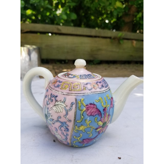 Pastel Antique Pastel Russian Teapot for One For Sale - Image 7 of 7