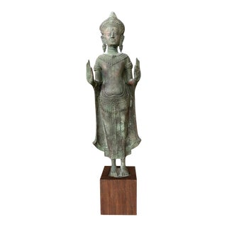 Antique Lopburi Buddha Statue from Thailand For Sale