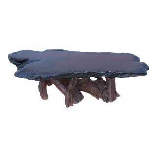 Mid-Century Modern Driftwood Coffee Table For Sale