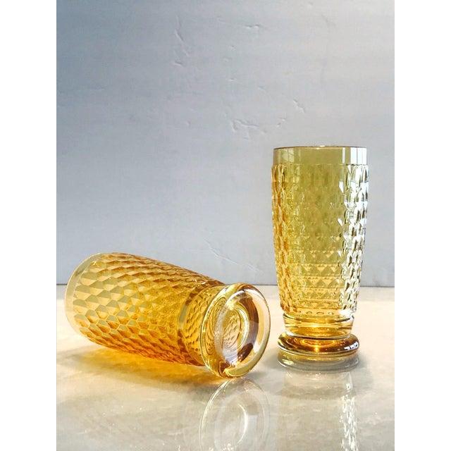 Set of Seven Vintage Villeroy & Boch Crystal Highball Glasses in Amber For Sale - Image 13 of 13