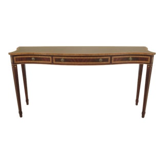 Federal Karges Inlaid Mahogany Console Table For Sale