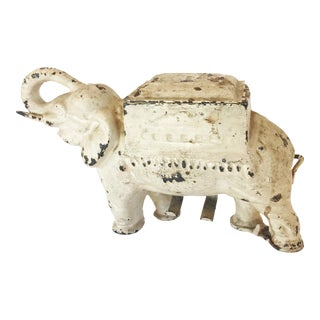 Antique Cast Iron Elephant Cigarette Holder and Dispenser For Sale