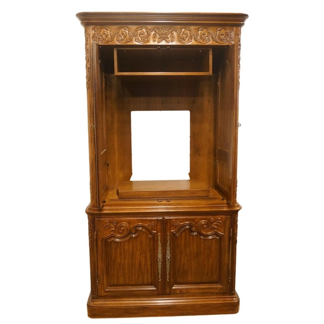 Heritage Heritage Avallon Collection Country French Media Armoire For Sale - Image 4 of 13