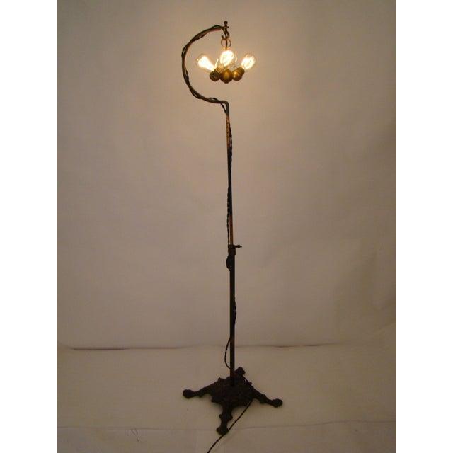 Antique Victorian Cast Iron Adjustable Floor Lamp - Image 5 of 11