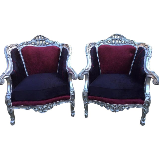 Baroque Style Chairs - Pair - Image 1 of 6