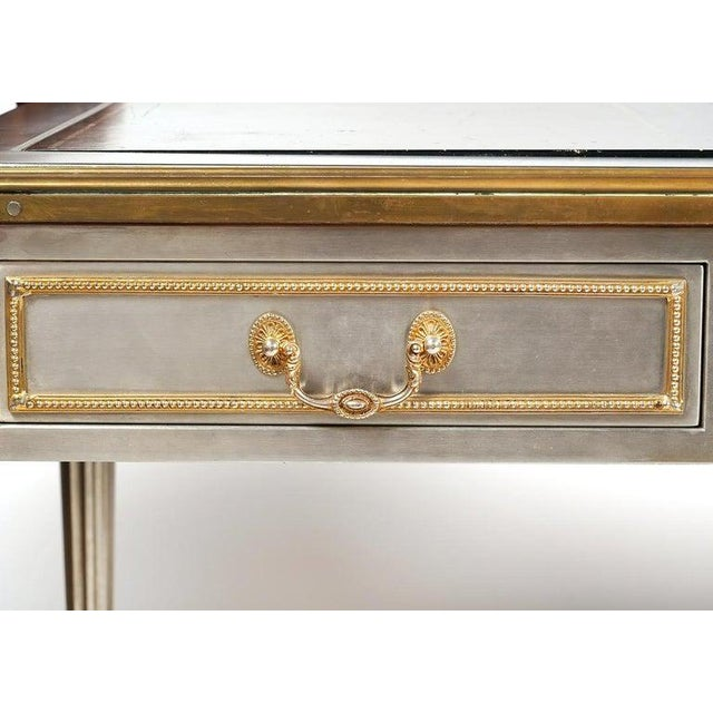 John Vesey Mid-Century Modern Desk or Bureau Plat. Steel and Bronze For Sale In New York - Image 6 of 12