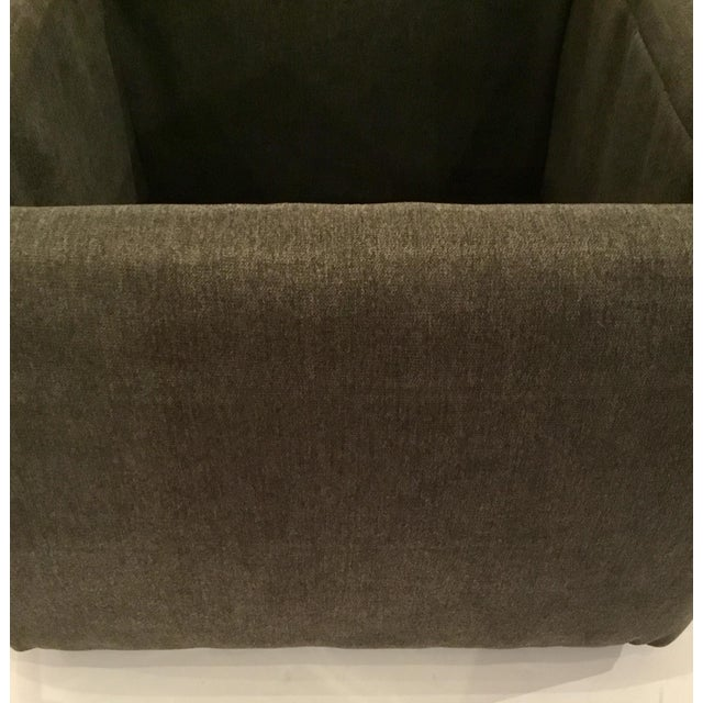 Transitional Dark Gray Storage Ottoman For Sale - Image 4 of 5
