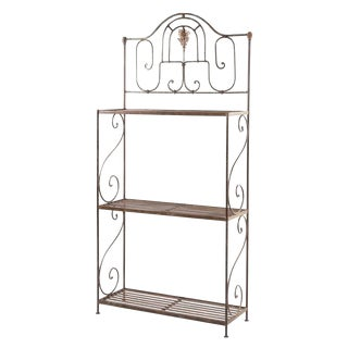 19th Century Art Deco Steel Baker's Rack For Sale