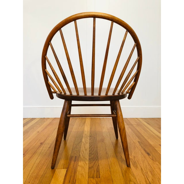 Mid 20th Century Vintage Mid Century Russel Wright for Conant Ball Windsor Style Maple Chairs- A Pair For Sale - Image 5 of 10