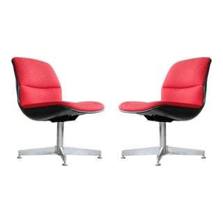 Mid Century Pair Modern Chrome Chairs For Sale