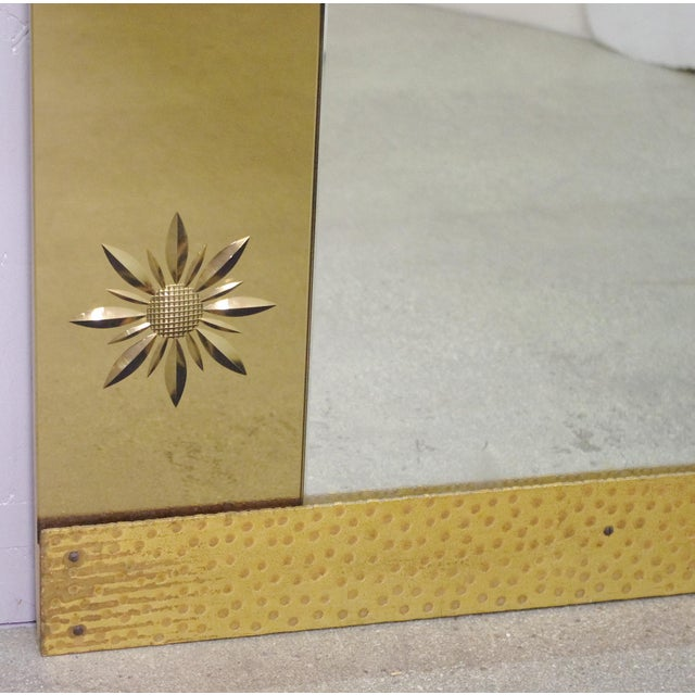 1950s Italian Mirror With Console by Pier Luigi Colli For Sale - Image 5 of 9