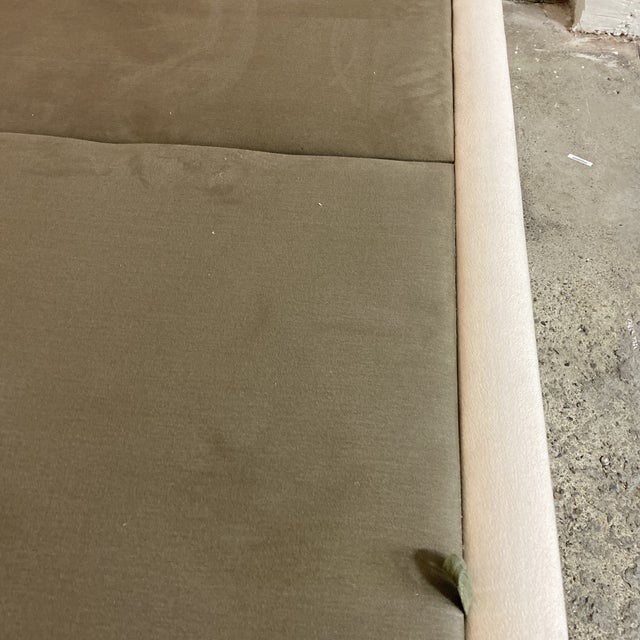 Textile California King Nathan Anthony Brownstone Upholstered Bedframe For Sale - Image 7 of 11