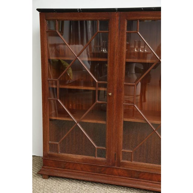 Chippendale English Mahogany Bookcase For Sale - Image 3 of 8
