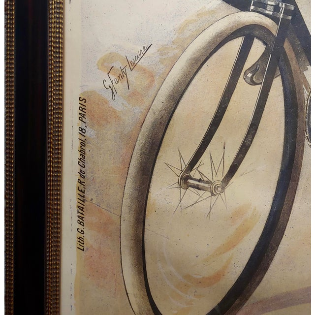 Brown Gaston Fanty-Lescure Rare 1896 French Bicycle Poster For Sale - Image 8 of 9